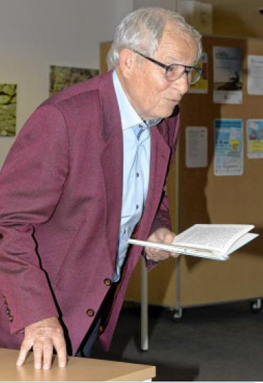 Der Autor Peter Jäger zog die Zuhörer in seinen Bann. FRANK